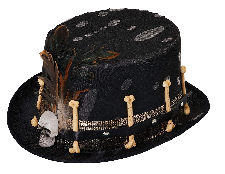 Adulto Uomo Donna Giorno dei Morti Cappello Accessorio Costume Halloween NUOVO