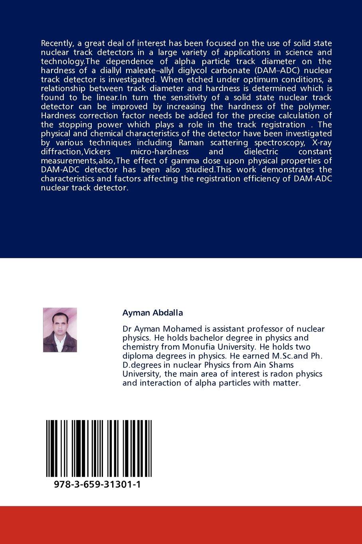DAM-ADC Nuclear track detector: Amazon.es: Abdalla Ayman: Libros en idiomas extranjeros