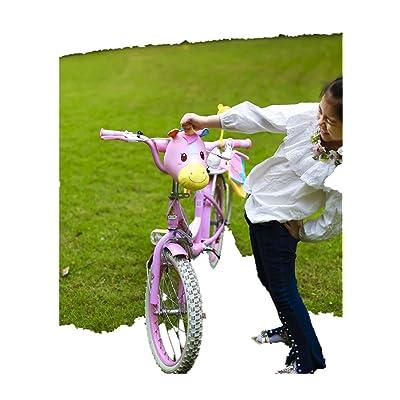 oiahwin 3D Unicorn Decoration For Kids Bike Scooter + Bike Rear Pack Kids T-Bar Kick Scooter Bike Pogo Stick Accessories | Kids' Backpacks
