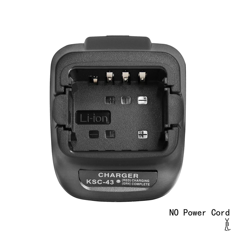 GSTZ KSC-43 Rapid Charger Base Without Power Supply for Kenwood TK3402 TK3400 TK3300 TK3000 TK2402 TK2400 TK2302 TK2300 TK3202L-U16P TK3200L-U15P NX-340U16P NX-240V16P Portable Radio