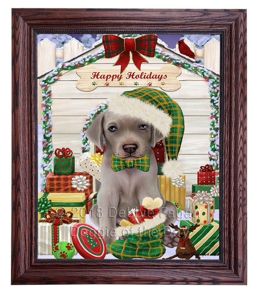 Amazon.com: Happy Holidays Christmas Weimaraner Dog House with ...