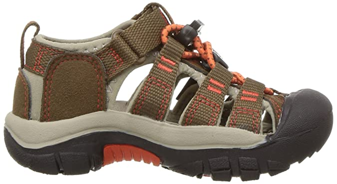Keen Unisex Baby Newport H2 Durchgängies Plateau Sandalen, Braun (Dark Earth/Spicy Orange Dark Earth/Spicy Orange), 23 EU