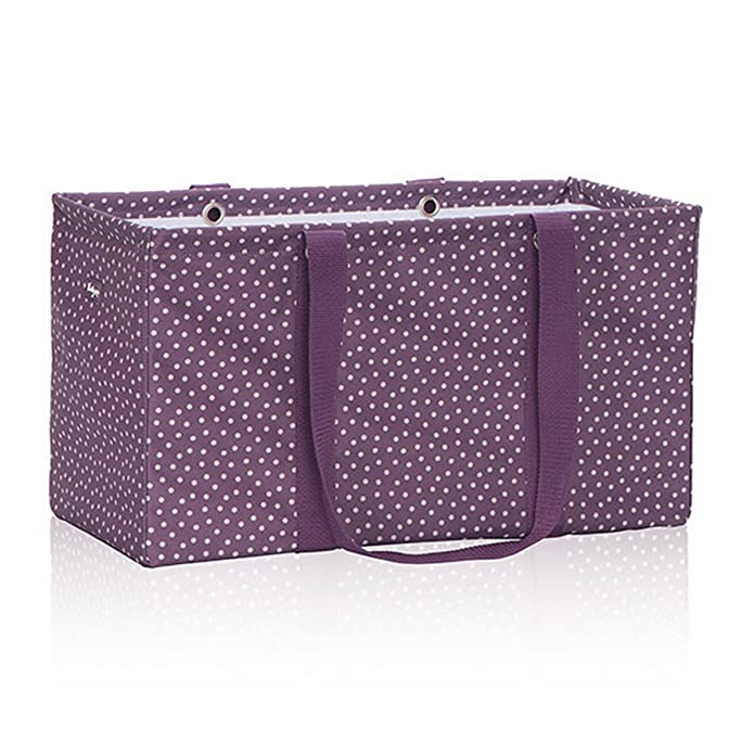 Amazon.com Thirty One Large Utility Tote in Plum Dancing Dot - No Monogram - 3121 Shoes  sc 1 st  Amazon.com & Amazon.com: Thirty One Large Utility Tote in Plum Dancing Dot - No ...