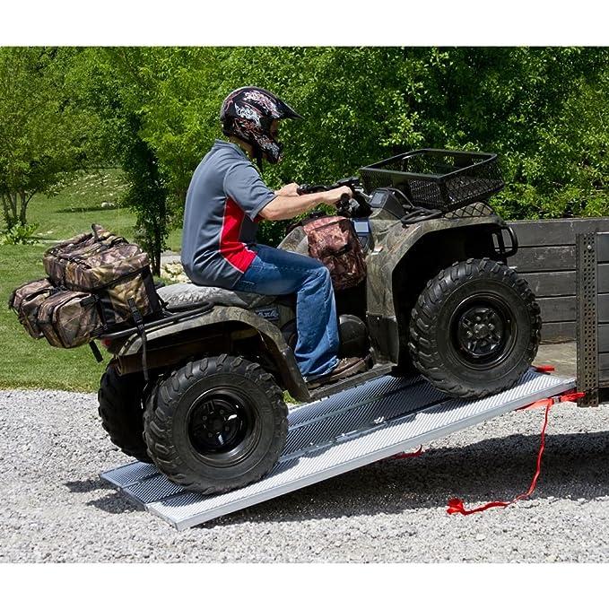 Rampa vidua negra para vehículo todoterreno extra ancha plegable en 3 de aluminio de estilo chapado: Rage Powersports: Amazon.es: Coche y moto