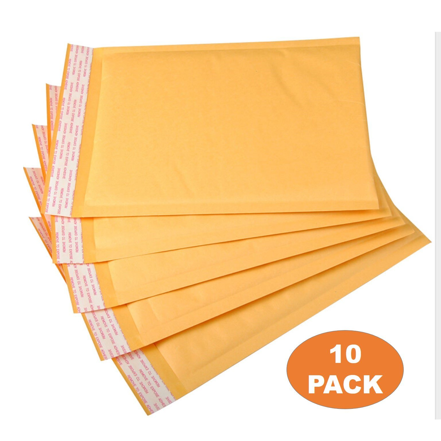 OfficeKit Kraft Bubble Mailers #5 10.5X16 Inches Shipping Padded Envelopes Self Seal Cushioned Mailing Envelope Bags 10 PACK