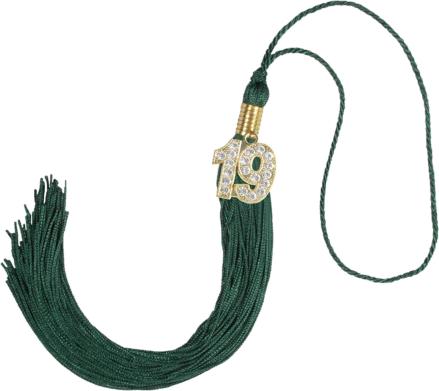GraduationForYou Academic Graduation Tassel With 2019 Year Charm Available For 14 Colors