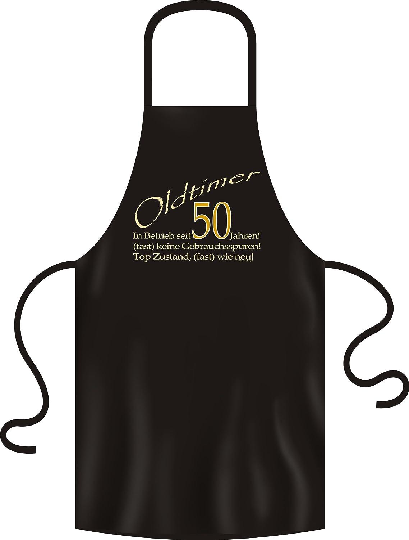 Veri zum 50 Geburtstag Grillsch/ürze Oldtimer in Betrieb seit 50 Jahren in schwarz one Size 100/% Baumwolle