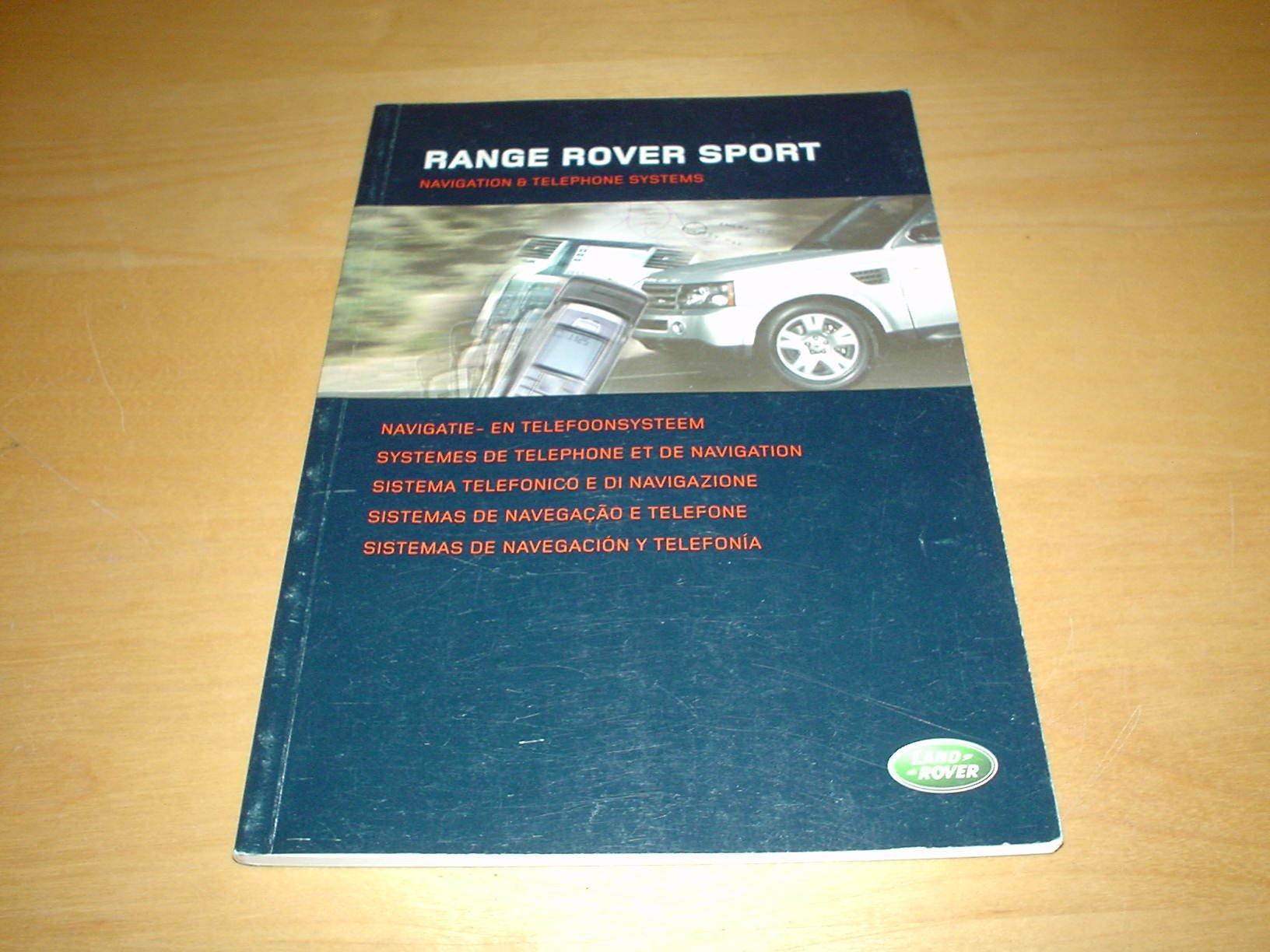 RANGE ROVER SPORT SATNAV NAVIGATION OWNERS MANUAL HANDBOOK - OWNER'S HAND  BOOK MANUAL Paperback – 2005