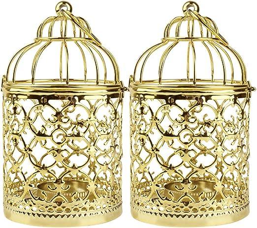 Bird Cage Votive Tealight Candle Holder Candle Lantern Home Wedding Party Decor