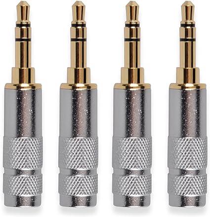 Black Metal Lot of 8 Neutrik Rean NYS231BG 3.5mm Stereo Headphone Plug Gold