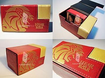 Rojo y dorado con tabla caja 100 protectores para cartas y kitchen ...