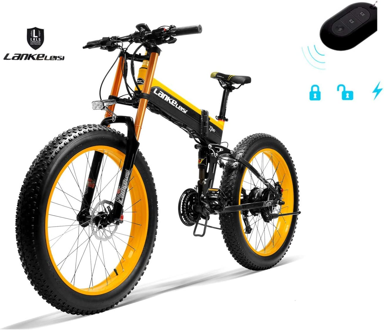 LANKELEISI 750PLUS 48 V 14.5AH 1000 W Motor todopoderoso Bicicleta ...