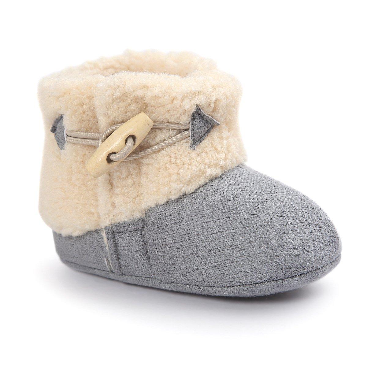 Butterme Inverno Caldo Baby Peluche Stivali Di Neve Sole Soft antiscivolo Prewalker Crib Scarpe per neonato Ragazzi Infant Ragazze ZUMUii ZUMU00005434