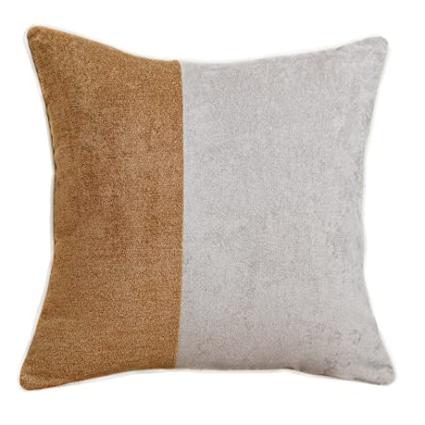 Amazon.com: Avigers Orange Grey Patchwork Soft Chenille ...