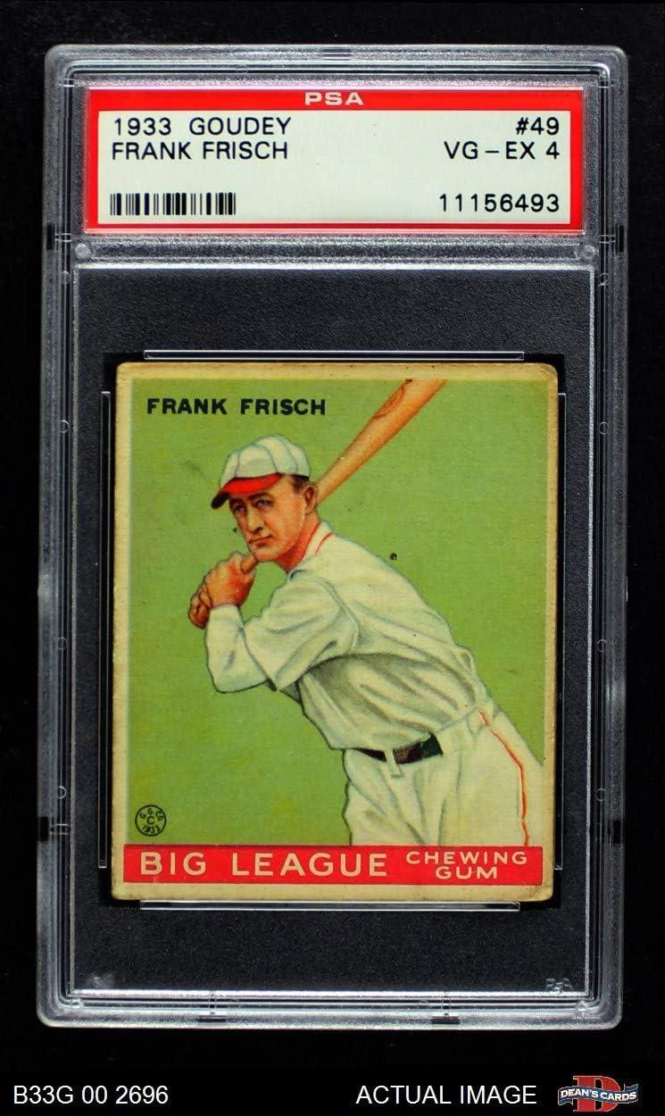 1933 Goudey # 49 Frankie Frisch St. Louis Cardinals (Baseball Card) PSA 4 - VG/EX Cardinals 71w-G2JKgPLSL1250_