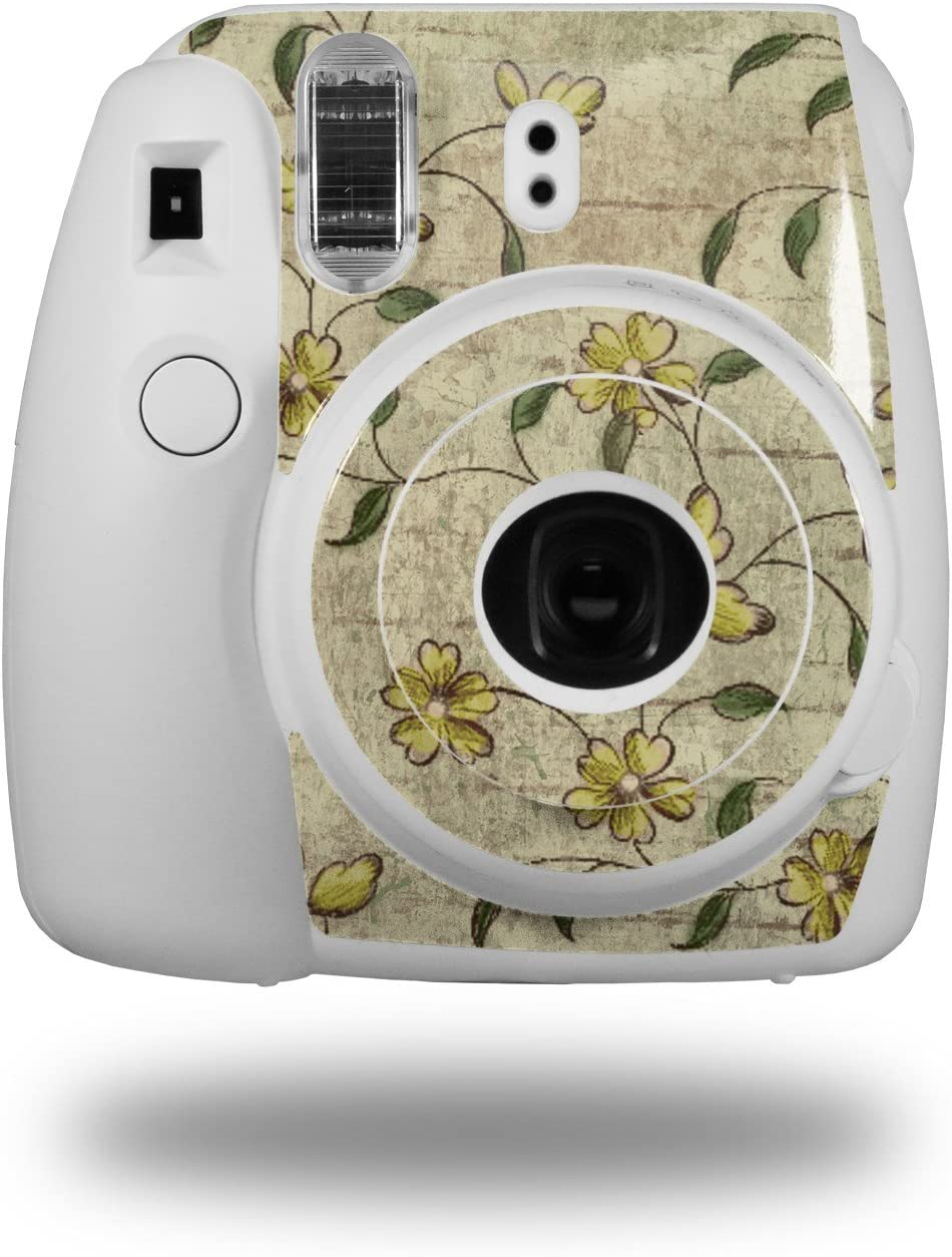 Camera NOT Included WraptorSkinz Skin Decal Wrap for Fujifilm Instax Mini 8 Camera Flowers and Berries Yellow