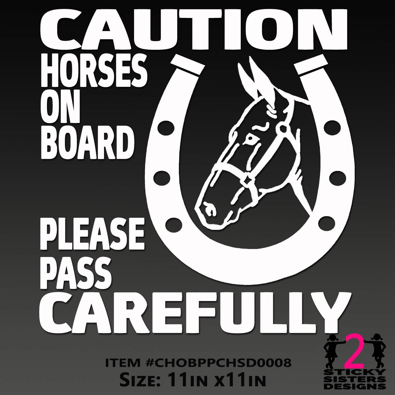 LOVE with Walking Horse Custom Vinyl Decal
