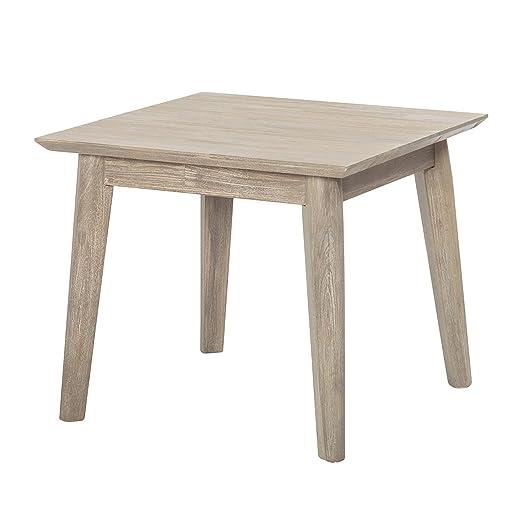 Couchtisch Akazie Massiv Grau Sand Sofa Tisch Couch Wohnzimmer