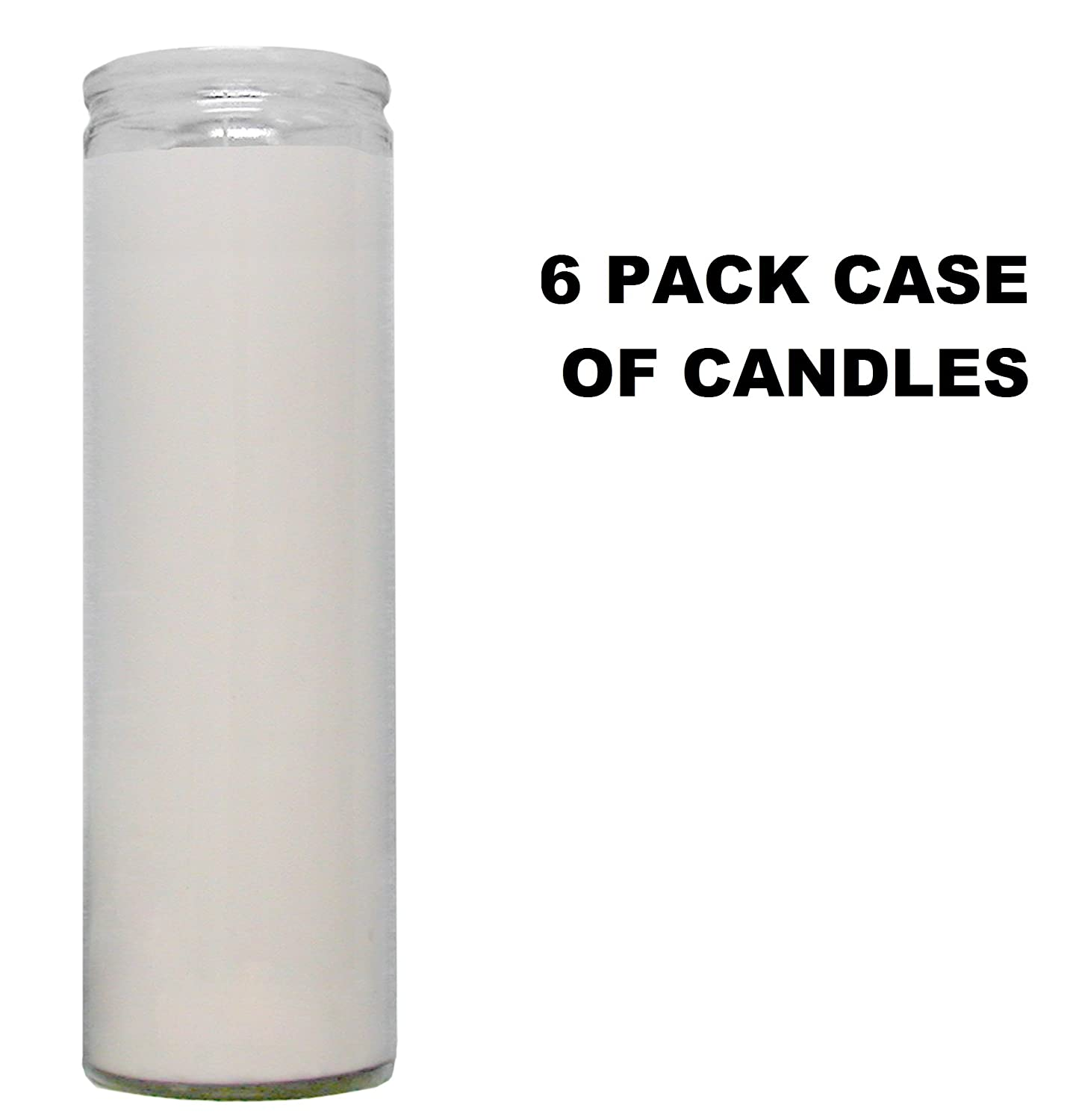 White Paraffin Wax Religious Prayer Candles 6 Pack / Clear Glass White Paraffin Wax Novena Vigil Candles 6 Pack