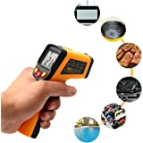 SOLOOP Non-contact Digital Laser Infrared Thermometer Temperature Gun IR Thermometer(High Accuracy) -50~400℃ Without Batteries