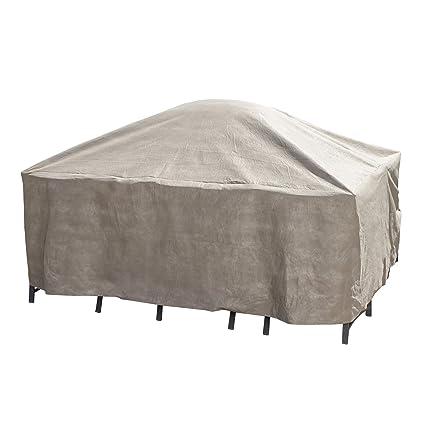 Amazon Com Duck Covers Elite Square Patio Table Chair Set Cover