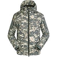 Bruce Lin Impermeable Militar Táctica Camuflaje Chaqueta de Softshell para Hombre,Invierno Termica Cortavientos al Aire…