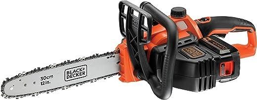 Black+Decker GKC3630L25-QW Li Ion kettingzaag 36 V met accu en oplader – ideaal voor hout- en tuinwerkzaamheden, zaaglengte 30 cm, 90 W, 36 V