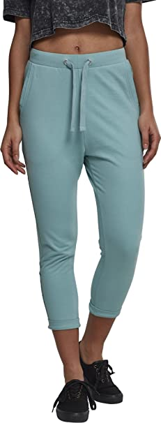 Urban Classics Ladies Open Edge Terry Turn Up Pants Pantaloni Sportivi Donna