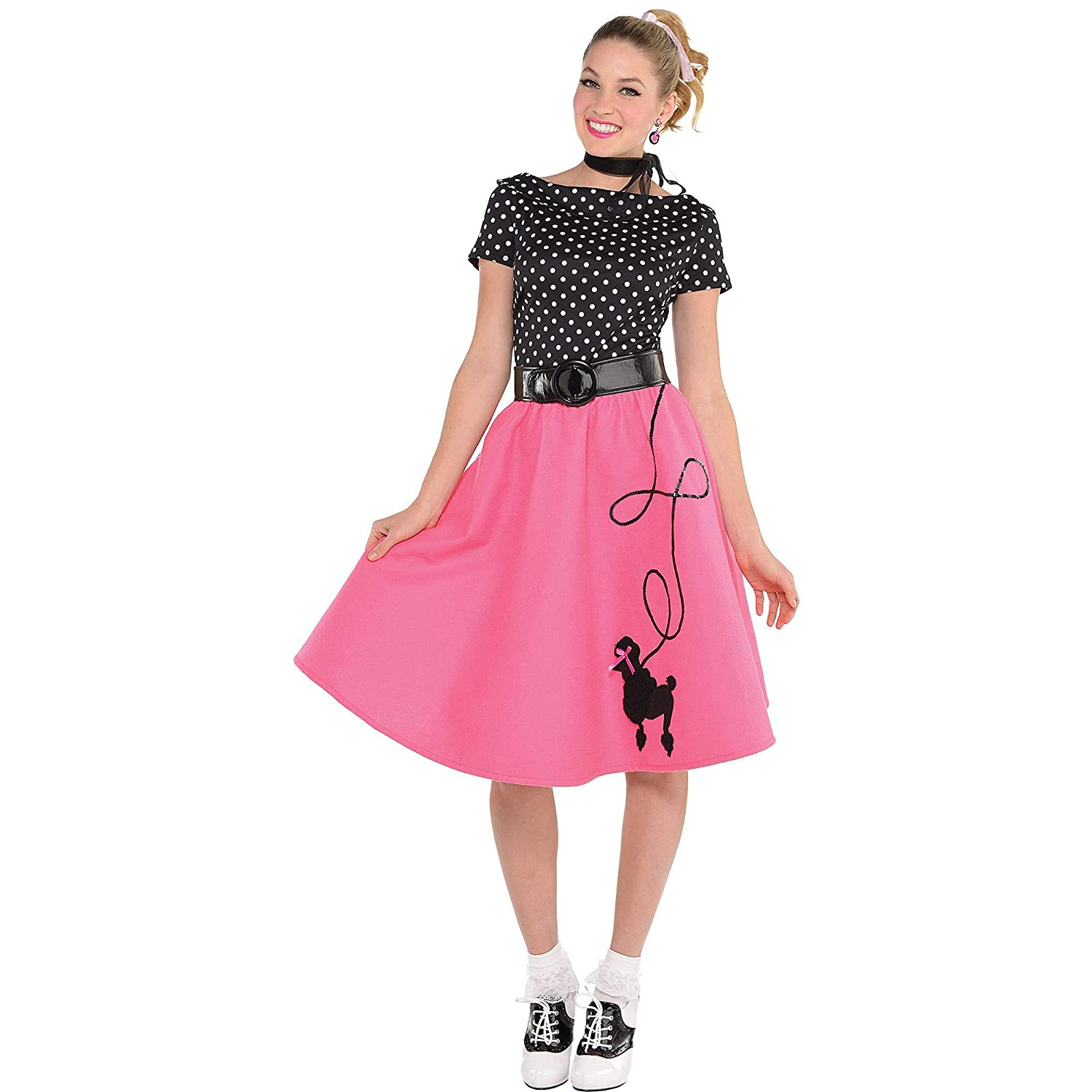 615e101f405c Adult 50's Flair Costume Dress size SMALL: Amscan: Amazon.co.uk: Toys &  Games