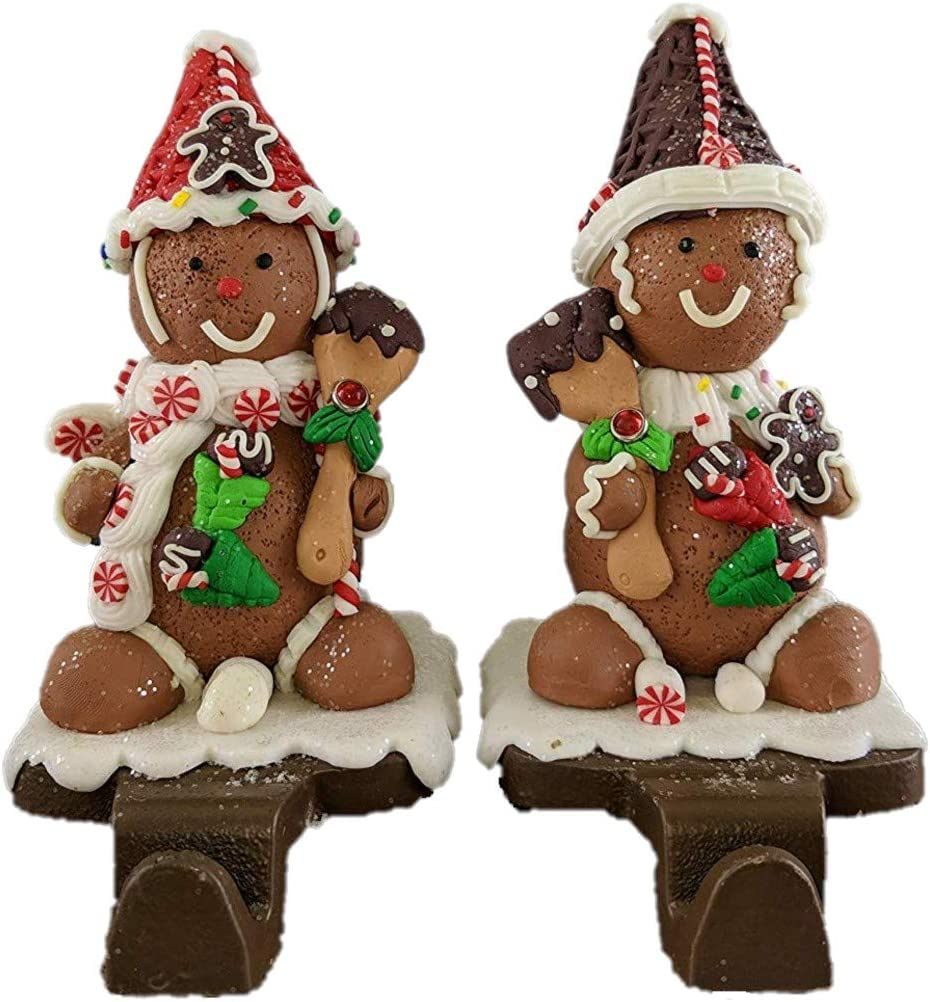 Party Explosions Gingerbread Man Christmas Stocking Holders - Set of 2