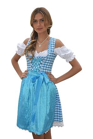 Tirolesa Juego 3 Piezas.De Traje Tradicional Vestido Azul ...