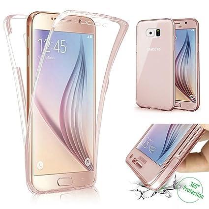 new style 2a3fa d8488 Galaxy S6 Edge Plus Case,PHEZEN Scratch Proof 360 Front and Back Full Body  Protection Semi Transparent Flexible TPU Bumper Case Anti-Scratch ...