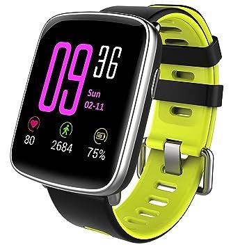 FLY El Monitor De Ritmo Cardíaco del Reloj Impermeable Elegante del Silicón GV68 Profesional Camina Llamada