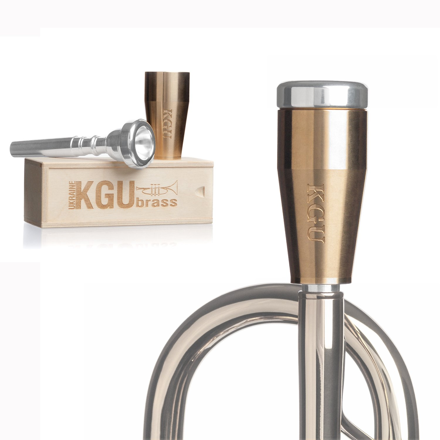 KGUBrass Custom Trumpet Mouthpiece Booster, Raw Brass - Limited Edition