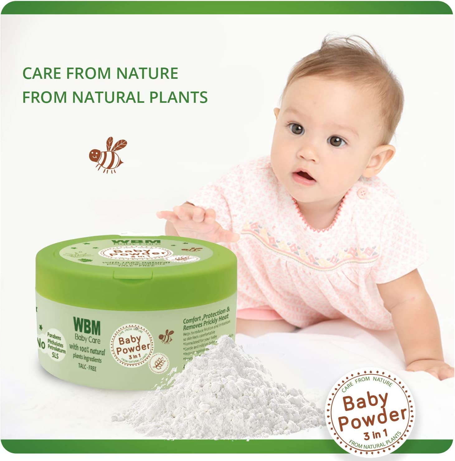 WBM Care Baby-GF02 Bathtime Solutions, 5 Items, Gift Set to Nourish Skin for Baby