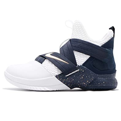 NIKE Mens Lebron Soldier XII SFG EP, WhiteWhite-Midnight Navy-Mineral