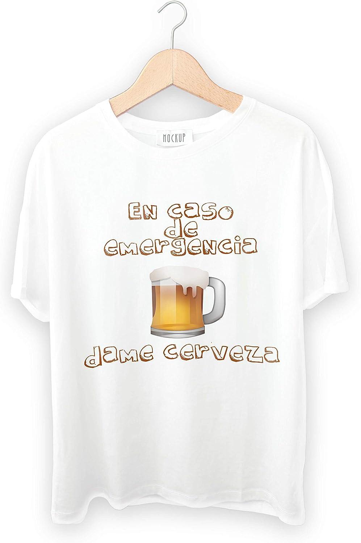 Camiseta Personalizada En Caso de Emergencia Dame Cerveza (M): Amazon.es: Ropa y accesorios