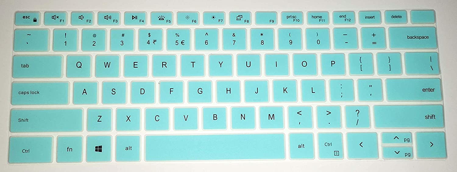 BingoBuy US Layout Keyboard Protector Cover Skin Compatible with for Dell XPS 15-9500 17-9700 Precision 15-5550 17-5750 with BingoBuy Card Case(Tiffany Blue)
