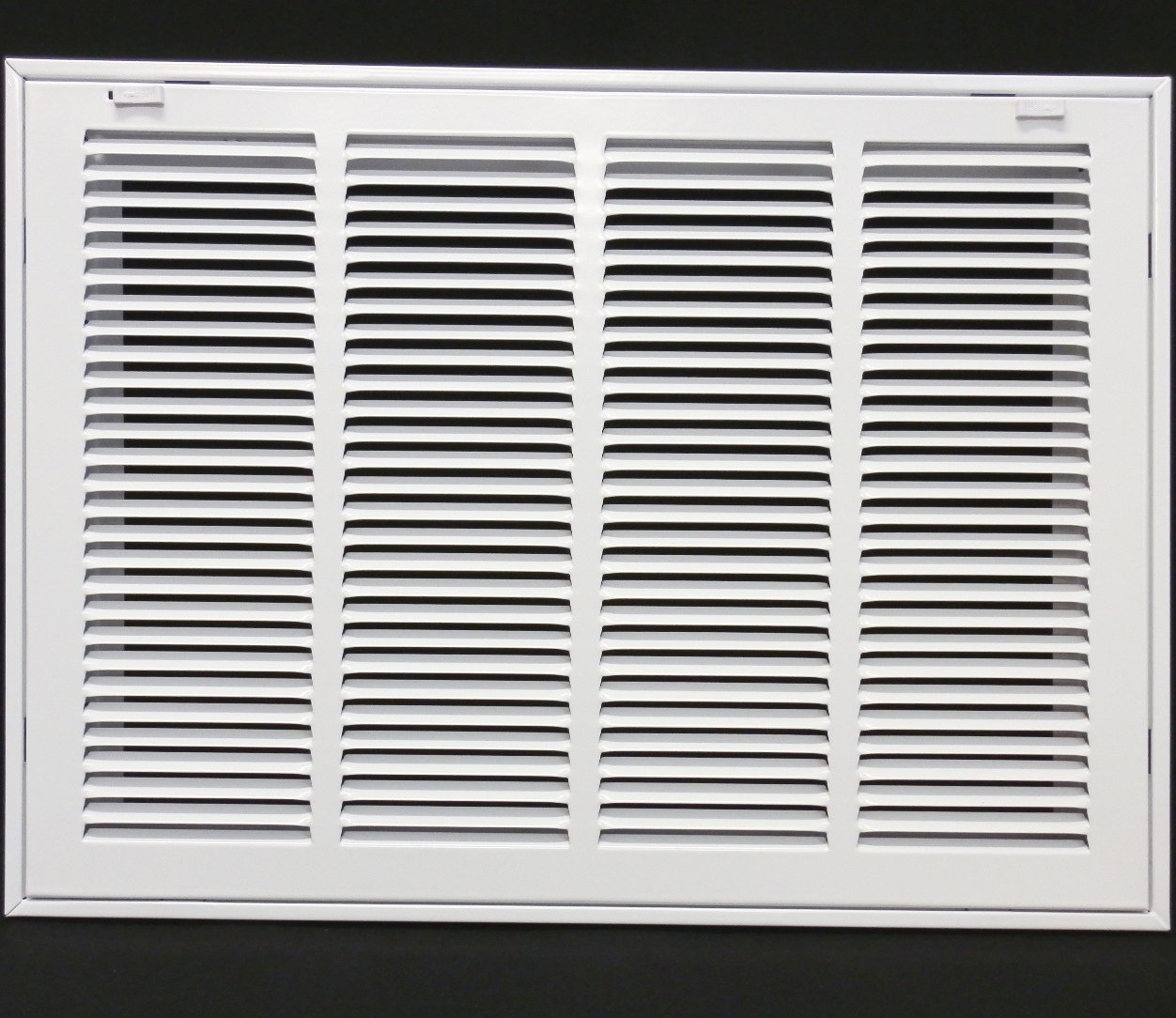 20'' X 12 Steel Return Air Filter Grille for 1'' Filter - Removable Face/Door - HVAC DUCT COVER - Flat Stamped Face - White [Outer Dimensions: 22.5''w X 14.5''h]