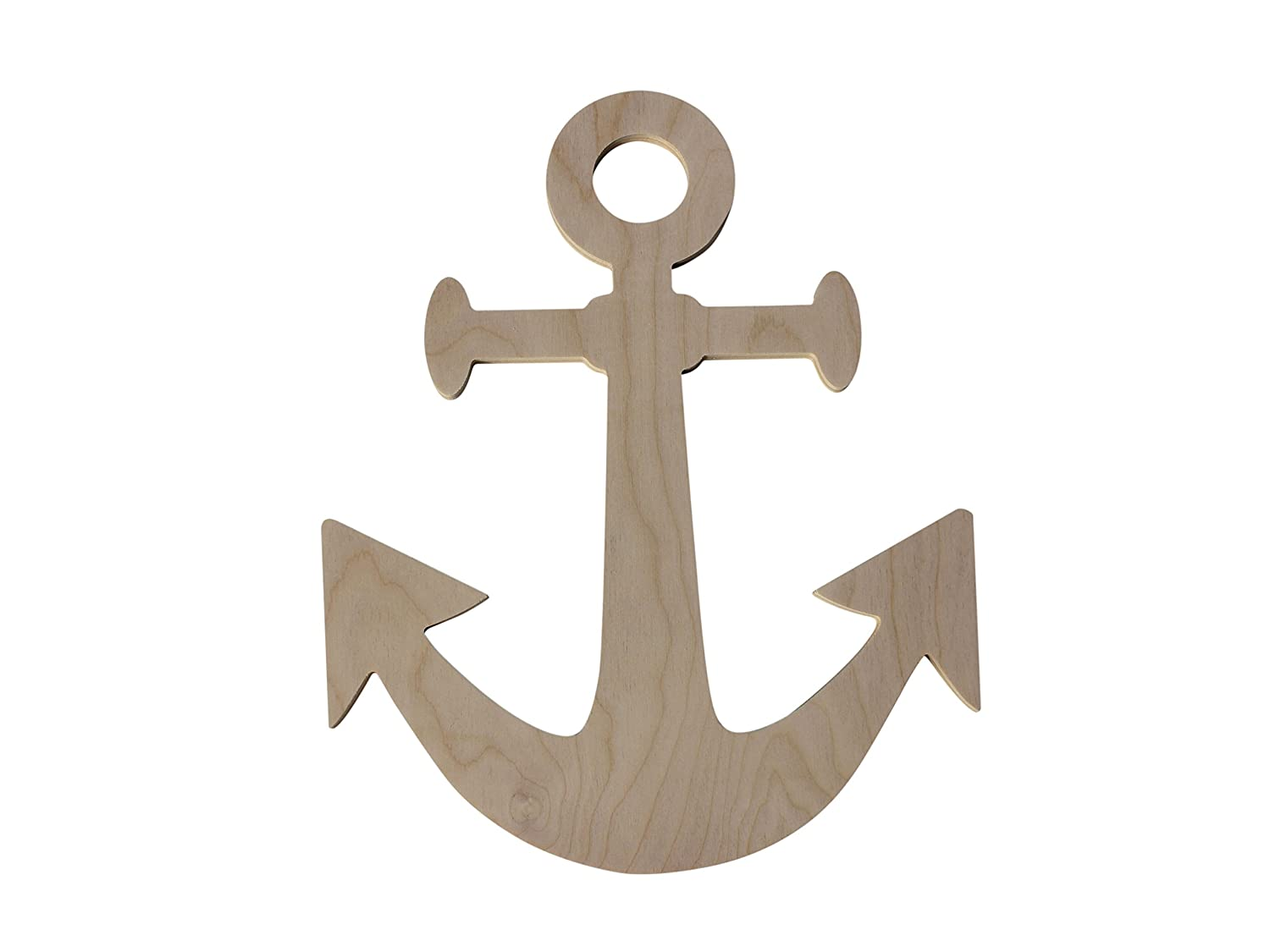 "Custom WoodWorks - 17"" Unfinished Wooden Boat Anchor"