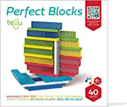 Tegu 40 Piece Perfect Blocks Building Set- Amazon Exclusive - Rainbow