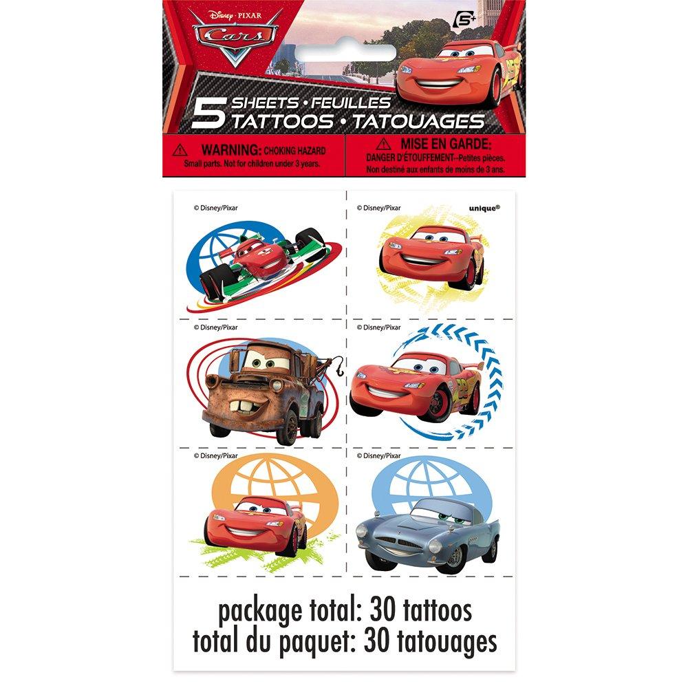 Disney Cars Tattoos, 30ct: Amazon.es: Juguetes y juegos