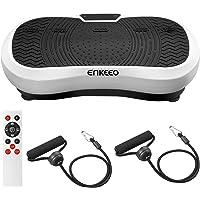 ENKEEO Vibrationsplatte Vibrationstrainer Machine-Oszillationsplattform für volle Körperflexibilität Training zum Abnehmen Muskelaufbau Sporttraining zu Hause mit Fernbedienung und Widerstandsbändern