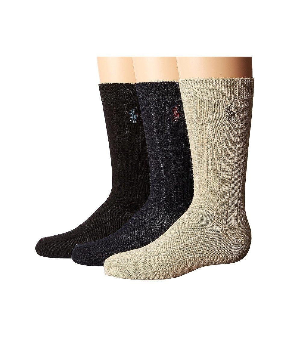 Ralph Lauren Boys Dress Rib Slack 3 Pack 8-9.5 Polo Ralph Lauren B61000BPK-ASST-0002