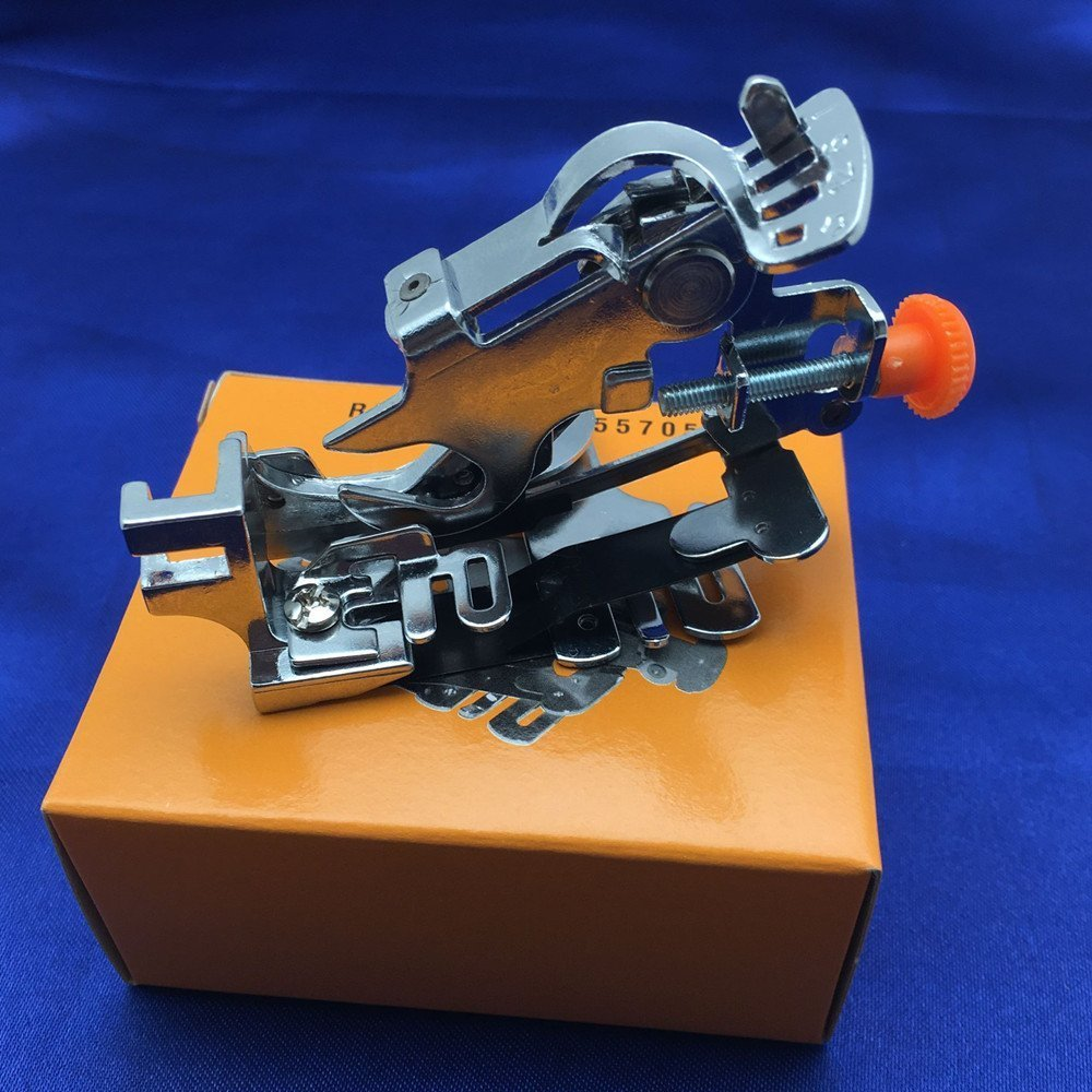 Sewing Machine Presser Foot for Singer Brother Juki Low Shank Sewing Machine Pink Box YEQIN Ruffler Foot #55705
