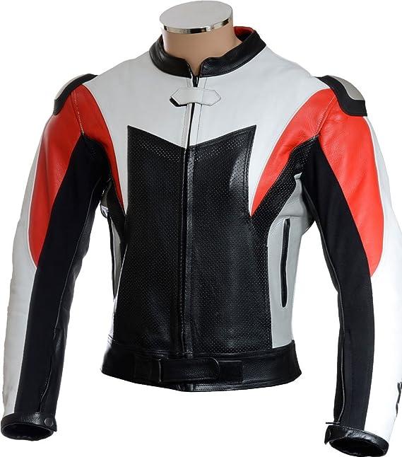 RTX Leathers - Chaqueta - Biker - para hombre: Amazon.es: Ropa y accesorios