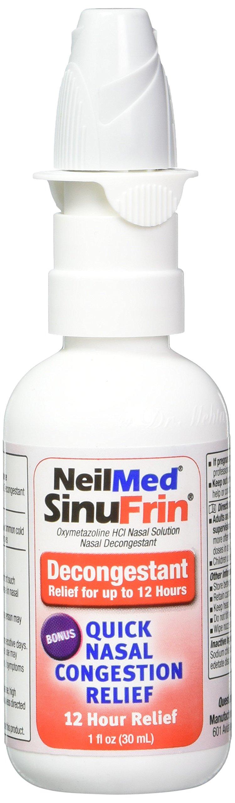 NeilMed Sinufrin Decongestant Relief Spray, 2 Count