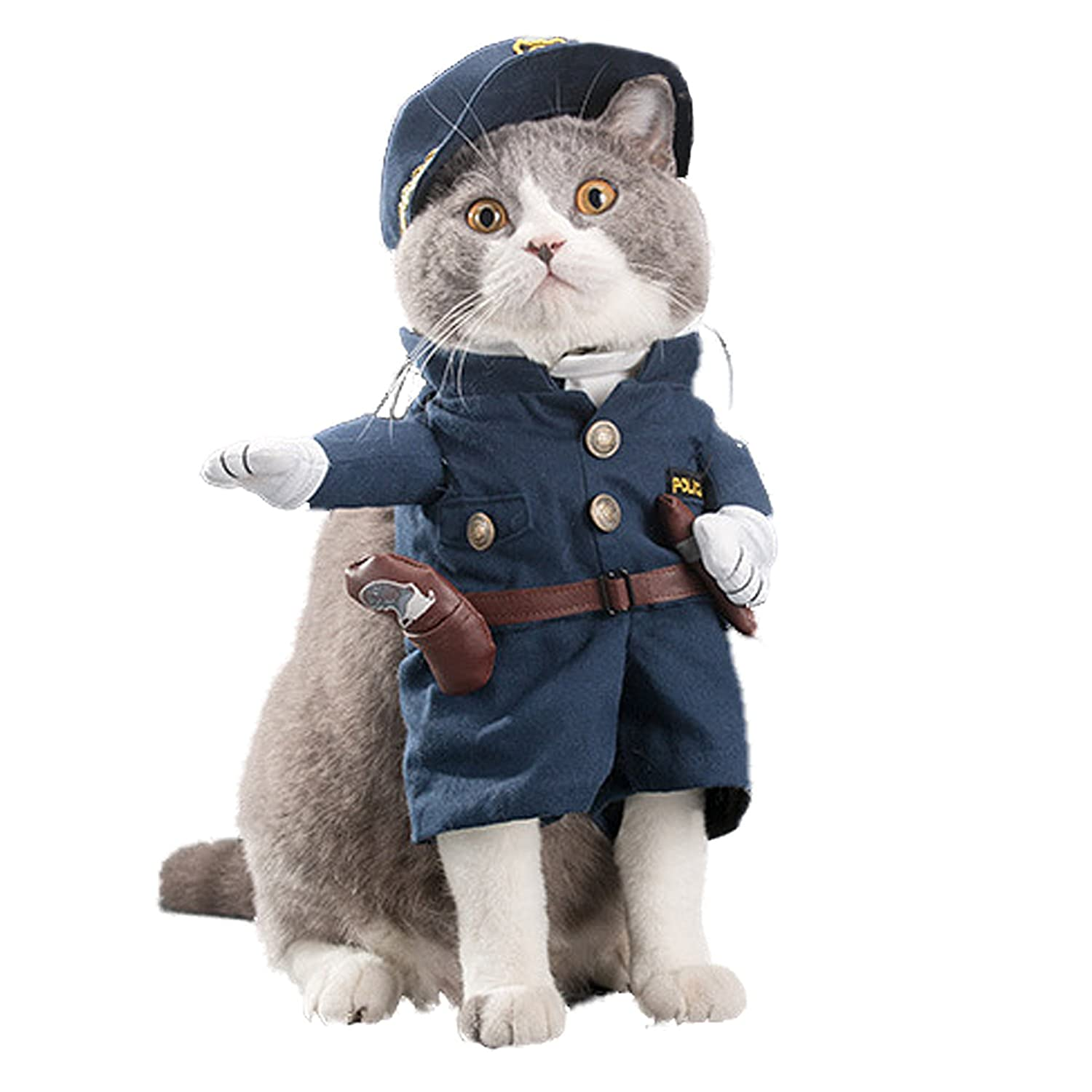Large NACOCO Pet Policeman Costumes Dog and Cat Halloween Suits (Large) by NACOCO