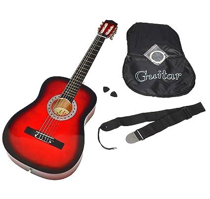Ts-Ideen 5264 - Guitarra acústica clásica (incluye funda, correa, cuerdas y