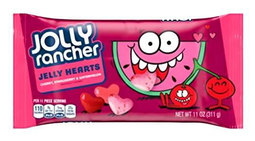 Jolly Rancher Jelly Hearts Valentine Candy – Cereza, fresa ...